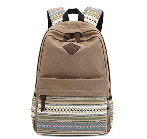 df8b46ed71 Unisex Fashionable Canvas Zip Bohemia Boho Style Backpack School College  Laptop Bag for Teens Girls Boys Students
