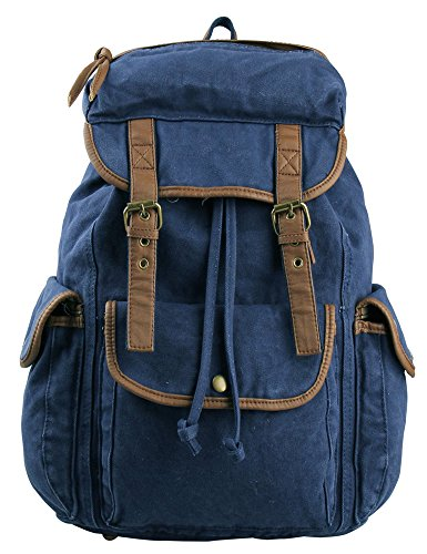 Leaper Causal Style Canvas Laptop Bag  Shoulder Bag  School Backpack ... 47fb6ad6dbaf0