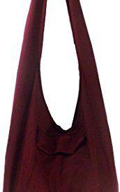 8d699f7a53 Rare Asian East Hippie Hobo Cotton Sling Cross-body Handmade Asia Red Thai  Pattern Bag Shoulder Purse