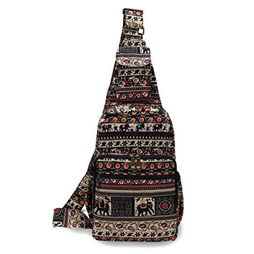 c82c878486083e MIANZI Women Sling Bag Outdoor Sport Canvas Large capacity Crossbody ...