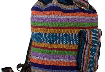 c899dc5b34 PINZON ESCOLAR Large Unisex Hippie Backpack Canvas Rucksack Drawstring  Mexican Baja Boho Aztec Girls School Bags Boys Foldable Bag Casual Daypack  for Beach ...