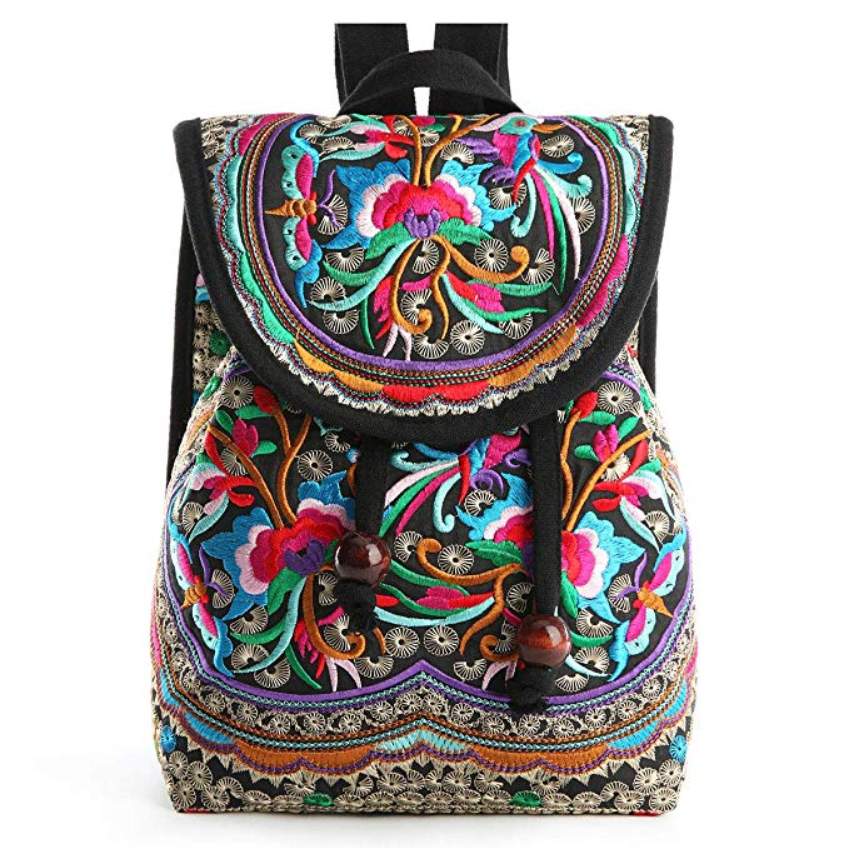 1f64fb2487 Embroidery Canvas Backpack Purse for Women